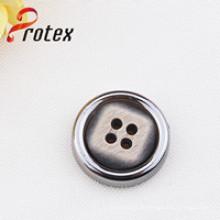 2.5cm Botón de la capa del plástico para los accesorios de la ropa