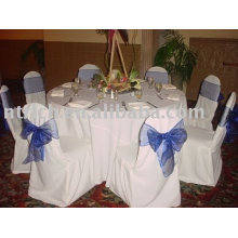 100% polyester chair cover, hotel/banquet chair cover, organza sash