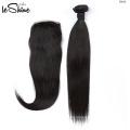 Los mejores vendedores al por mayor del pelo de la Virgen, pelo humano crudo sin procesar de la Virgen brasileña con el cierre frontal del cordón