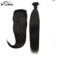 Am besten Großhandelsreine Haar-Verkäufer, brasilianisches rohes unverarbeitetes Menschenhaar der Jungfrau mit vorderem Abschluss der Spitzes