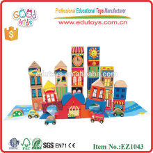 2015 New Products Colorful Kids Wooden Toys Wooden Building Block Toys