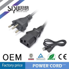 SIPU 3 core Stranded CU material power cord and plug for computer