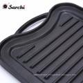 Two-burner Reversible Cast Iron Griddle , Black