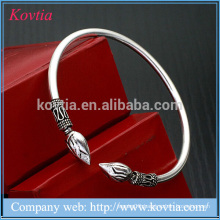 High fashion 925 pure silver 7g sterling bracelet arrow jewellery titanium silver bangle
