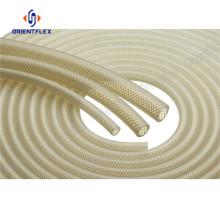 Heat resistant fluid transmission silicone hose braid