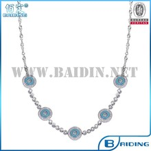 2015 fashion 925 sterling silver jewelry set wholesale necklace
