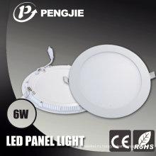 Хорошая теплоотдача алюминия 6w светодиодные панели света жилья