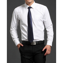 Free Shipping Men's long sleeve white shirt