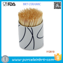 Tableware Custom Ceramic Toothpick Holder