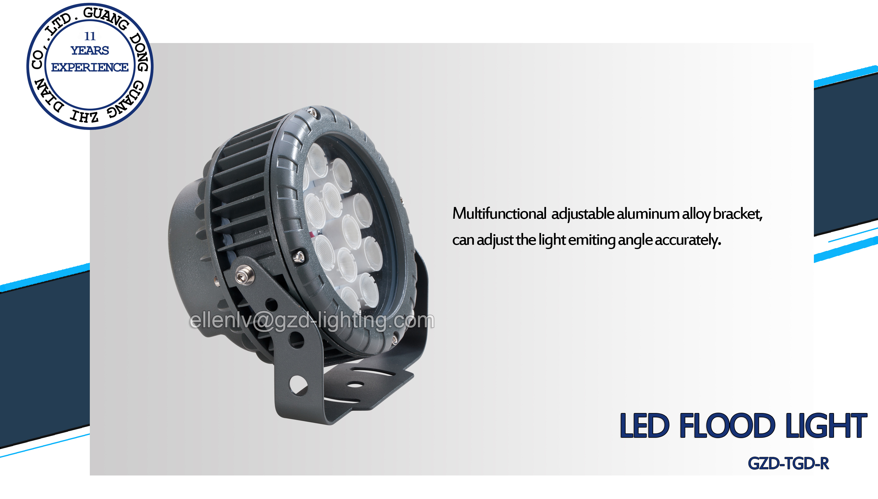 led flood light luminaire