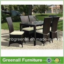 Lazer Pátio Outdoor Rattan Mobiliário de Jardim Mesa Cadeiras Set