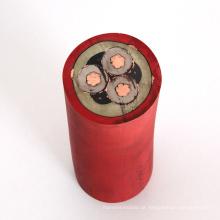 Cabos móveis flexíveis com núcleos de tela e monitoramento para cortadores de carvão de tensões nominais até e incluindo 1,9 / 3,3 kV