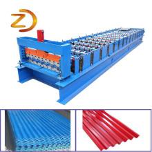 Rolo de telhado de chapa de ferro corrugado dá forma à máquina