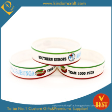 Custom Broadened Cmyk Printed Silicone Wristband (LN-016)