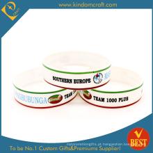 Cmyk ampliado personalizado pulseira de silicone impresso (LN-016)