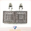 Elegant 925 Silver Cufflink Silver Jewelry for Men A11c002