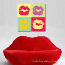 Heiße Lippen Pop Art Modedesigner