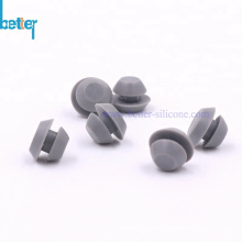 Custom silicone rubber grommet plugs for hole