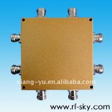 1700-2200MHz 4 IN 4 OUT 3dB rf diviseurs de puissance directionnels de la cavité Hybrid coupler