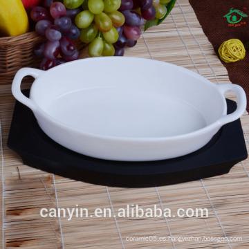 Proveedor de China de alta calidad de cerámica ovalado bakeware