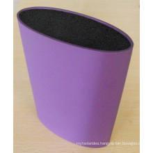 Oval Shape Plastic Colorful Knife Holder