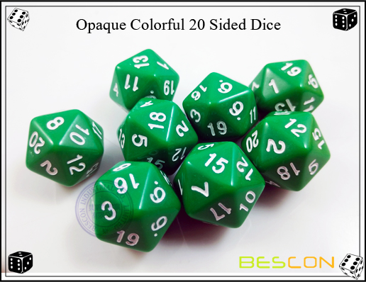 Opaque Colorful 20 Sided Dice-5