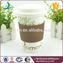 Taza de café caliente de la porcelana de la venta con la venta al por mayor de la tapa