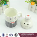 2015 Smiling Face Creative Ceramic Mugs Beer With Lid
