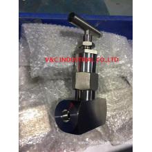 Válvula de agulha de alta pressão de alta temperatura com solda de soquete