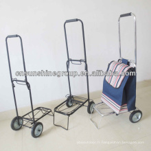 Pliant shopping trolley chariot-Metal Construction - Lightweight voyage Trolley