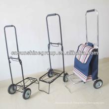 Compras carrinho carrinho Metal-construção - carrinho de viagem leve de dobramento