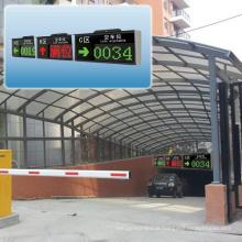 Tela exterior da orientação do diodo emissor de luz do sistema esperto do estacionamento do carro