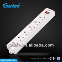 Multi soquete de extensão elétrica com proteção