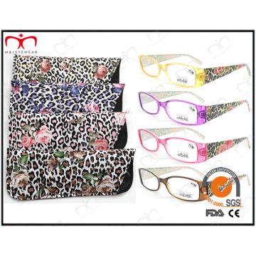 Мода пластиковые очки чтения с Чехол (MRP21681)