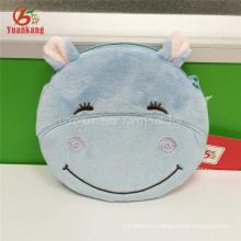Cute animal Shaped plush hippopotamus Small Coins Zippers Purses Key Pouch