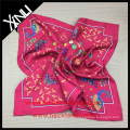 Chinese Accessories Supplier Pure Silk Twill Custom Printed Women's Scarves with Matching Silk Tie