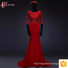Alibaba Wholesale Red Lace Applique 100% Cotton African Design Dresses