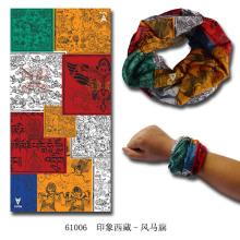 Bandana magique élastique tricoté sans couture de polyester de microfibre multifonctionnel (YKY1006-7)