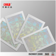 Strong Self Adhesive Hologram Sticker Film with CR80 Size