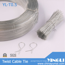 Klar, runde Form Twist Kabelbinder (YL-T0.5)