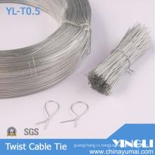 Очистить круглой формы твист кабель галстук (YL-T0.5)