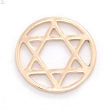 Barato rodada rosa liga de ouro janela flutuante antigo encantos de vidro placas de memória medalhão