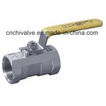 Válvula de bola de una pieza de acero inoxidable (Q11)