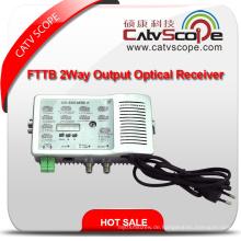 Hochleistungs-High-Level-2-Wege-Ausgang CATV FTTB Optischer Empfänger