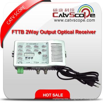 High Level 2 Way Output CATV FTTB Optical Receiver