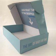 Emballage de boîte de chaussures de fantaisie bébé boîte d'emballage en carton ondulé
