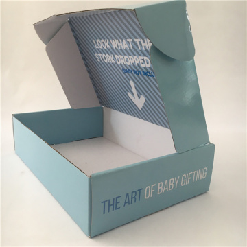 Fancy Baby Shoes Box Packaging Mailing Golfkartonnen doos