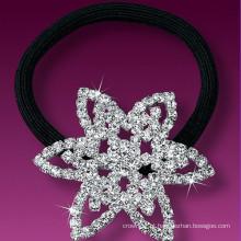 Moda metal prata chapeado cristal estrela cabelo banda