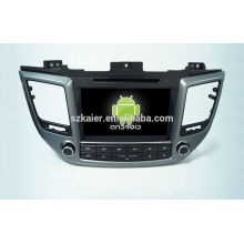 Quad core!car dvd with mirror link/DVR/TPMS/OBD2 for 8 inch touch screen quad core 4.4 Android system Hyundai IX35 2015