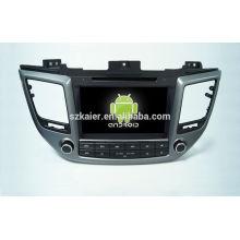 Quad core! Dvd do carro com link espelho / DVR / TPMS / OBD2 para 8 polegada tela sensível ao toque quad core 4.4 sistema Android Hyundai IX35 2015